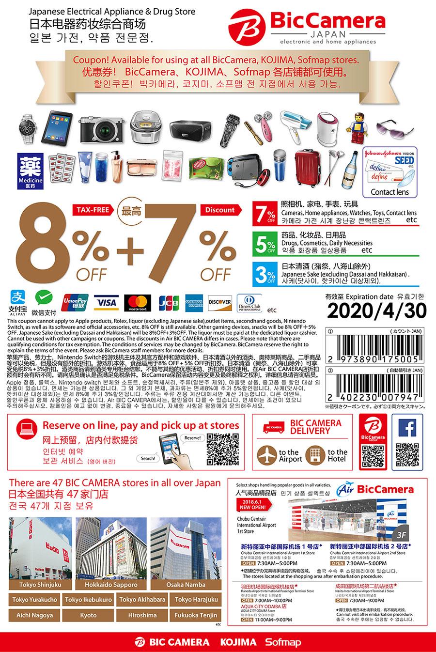 免税10%OFF+7%OFF</br>免税10%OFF+5%OFF